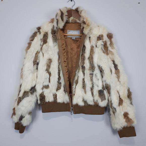 WILSONS LEATHER Rabbit Fur Jacket